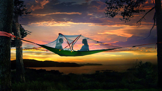 Sunset in a Tentsile