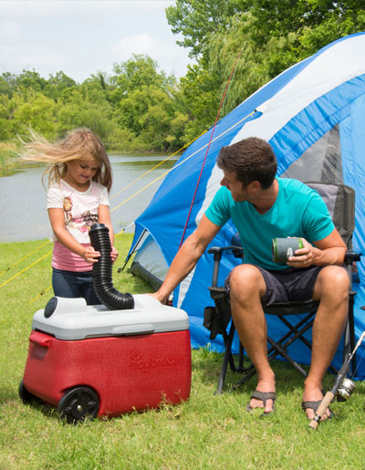camping with icy breeze