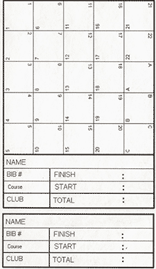 orienteering control card template - orienteering a run or walk in the countryside explore