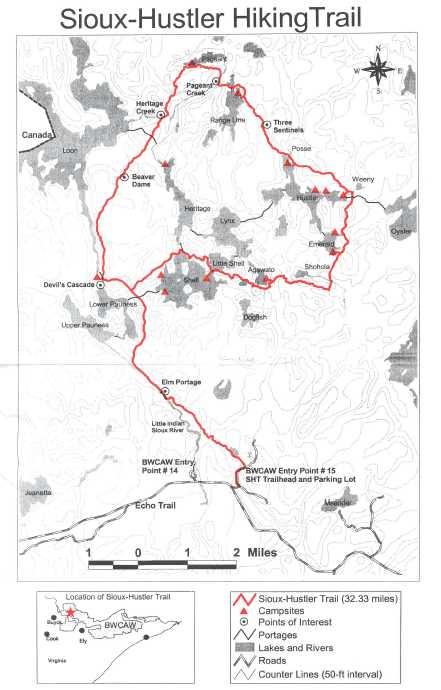 Sioux Hustler Trail Map
