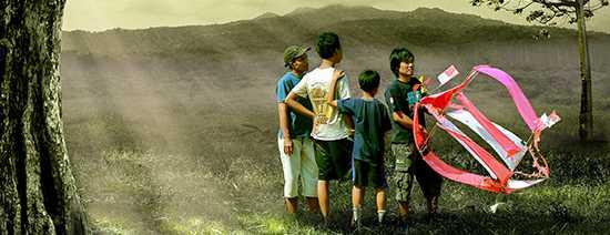 kids and kite