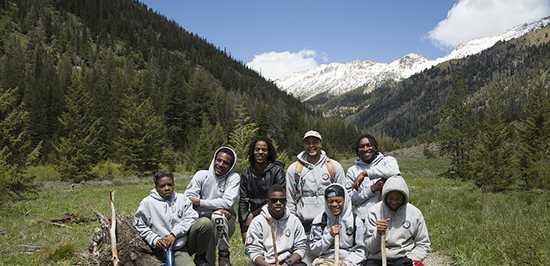 Civil Works Crew Members - USFS Photo