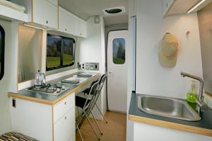 Interior of the Nest Caravan