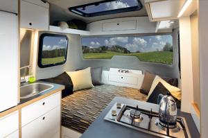Sleeping Area in the Nest Caravan