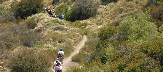 Hikers on the Backbone Trail (National Park Service Photo)