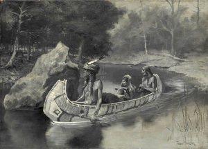Hiawatha's Friends by Frederic Remington