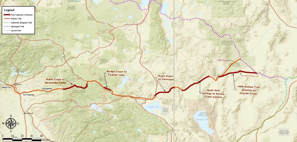 Nobles Emigrant Trail Map