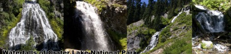 Waterfalls of Crater Lake National Park