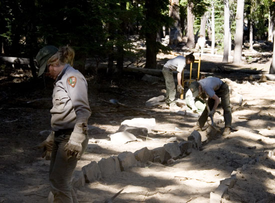 Park Service Crew at Plaikni Falls Trail