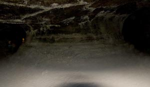 Large Column in the Entrance Chamber of Valentine Cave.  Lava Beds National Monument.