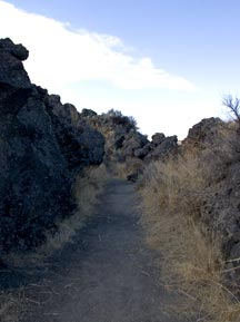 The trail in Captain Jack's Stronghold