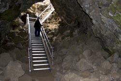 Merrill Cave Entry - Lava Beds National Monument
