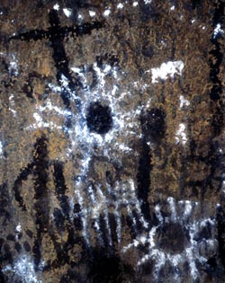Fern Cave Pictographs - Lava Beds National Monument.