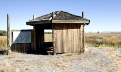 A Kiosk Along the Discovery Marsh Trail.  Tule Lake National Wildlife Refuge.