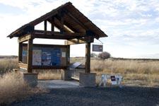 Liosk near the auto tour route. Lower Klamath National Wildlife Refuge