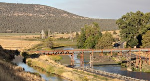 Flume carrying water for the Klamath Reclamation Project across the Lost River near Olene.