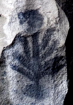 Pictograph at Symbol Bridge - Lava Beds National Monument