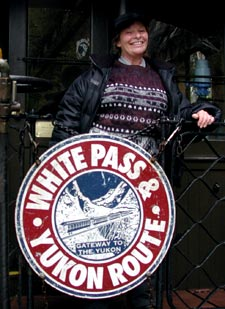 Chief Scout Trish aboard the White Pass & Yukon Train.