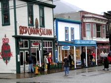 Main Street in Skagway, Alaska.