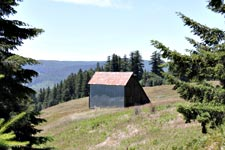 A barn, built in 1914 on the Sherman Lyon Ranch, now in Redwood National Park.