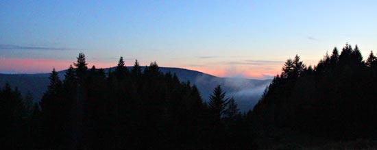 Sunset from Above Dolason Prairie
