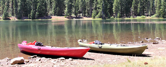 Kayaks at Juanita Lake