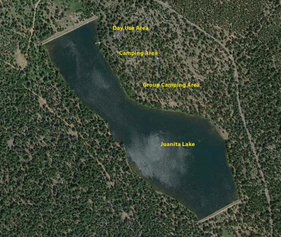 Juanita Lake Aerial View