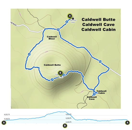 Caldwell Butte Map