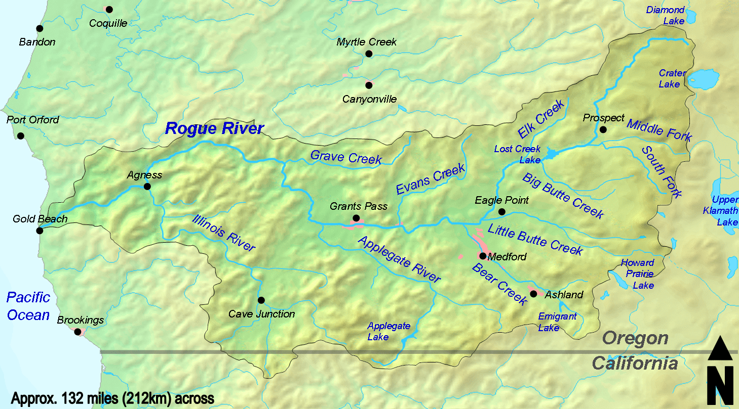 Ranger Springs At The Head Of The Rogue River Explore - Oregon rivers map