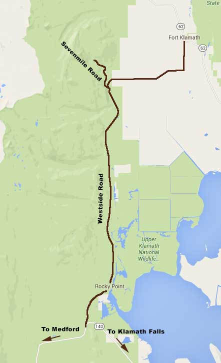 Sevenmile Trailhead Location Map
