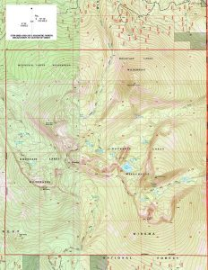 Mtn Lakes Wilderness Map