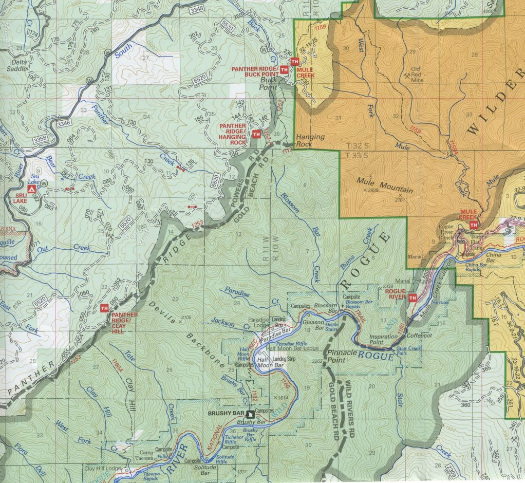 USFS Map of the Wild Rogue Loop Trail