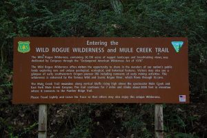 Mule Creek Trailhead Sign