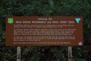 Mule Creek Trailhead Sign