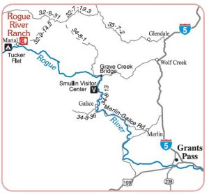 Route to Mule Creek Trailhead
