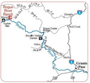 Route to Mule Creek Trailhead