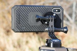 Rokform Case with GoPro Mount Attached to a GoPro Tripod Mount with a Male-Male Connector