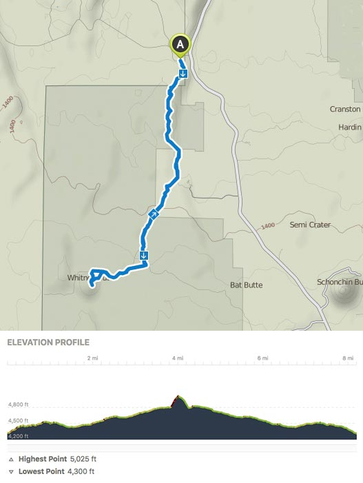 Gold Digger Trail Map and Profile